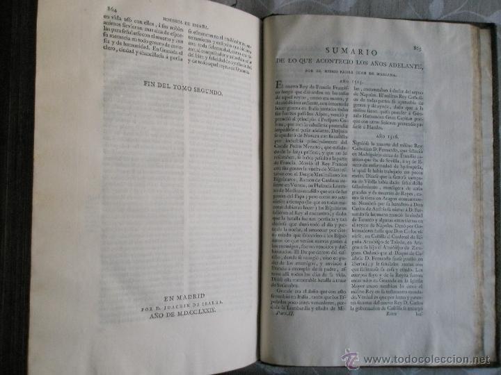 Libros antiguos: HISTORIA GENERAL DE ESPAÑA. COMPUESTA, ENMENDADADA Y AÑADIDA POR EL PADRE JUAN DE MARIANA DE LA COMP - Foto 8 - 41268603