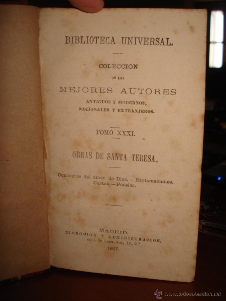 Libros antiguos: obras de santa Teresa - las cuatro épocas segundo tomo - Juan ruiz de Alarcon - Foto 2 - 41337116