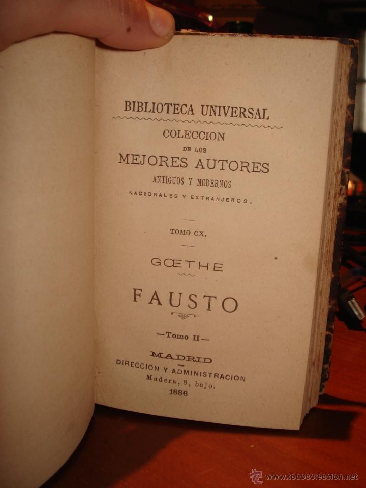 Libros antiguos: biblioteca universal, 1881, Fausto , R. Vega y A. Hidalgo de Mobellau - Foto 3 - 41354431