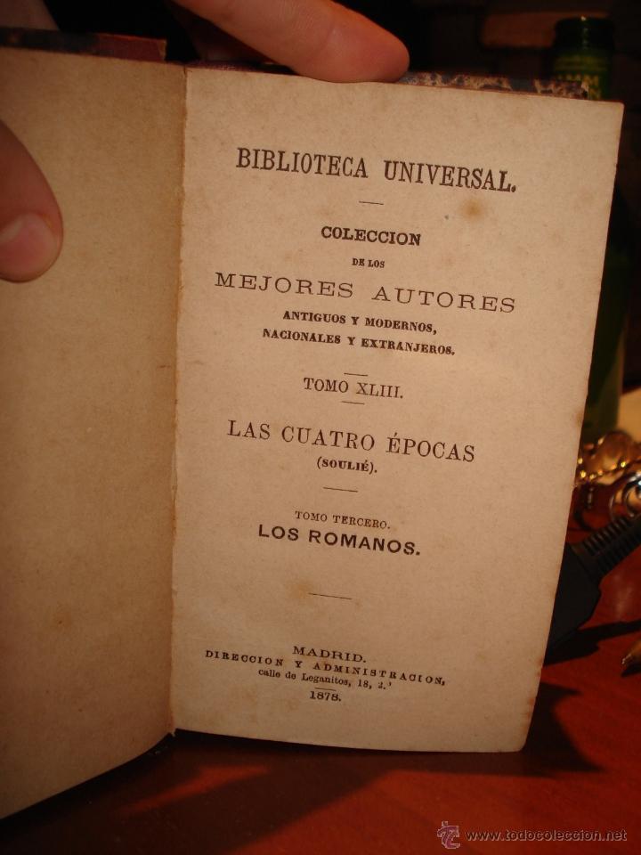 Libros antiguos: biblioteca universal 1881, cuatro épocas , Victor Hugo , poesias mejicanas - Foto 2 - 41354761