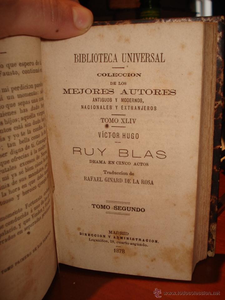 Libros antiguos: biblioteca universal 1881, cuatro épocas , Victor Hugo , poesias mejicanas - Foto 3 - 41354761