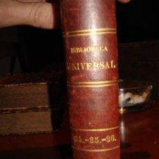 Libros antiguos: BIBLIOTECA UNIVERSAL 1881, QUEVEDO , DON RAMON DE LA CRUZ , FRAY LUIS LEON. Lote 41354973