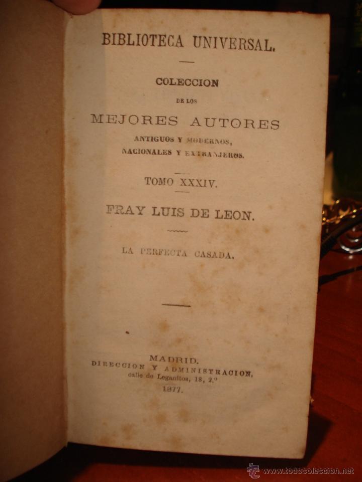Libros antiguos: biblioteca universal 1881, Quevedo , Don Ramon de la Cruz , Fray Luis Leon - Foto 2 - 41354973