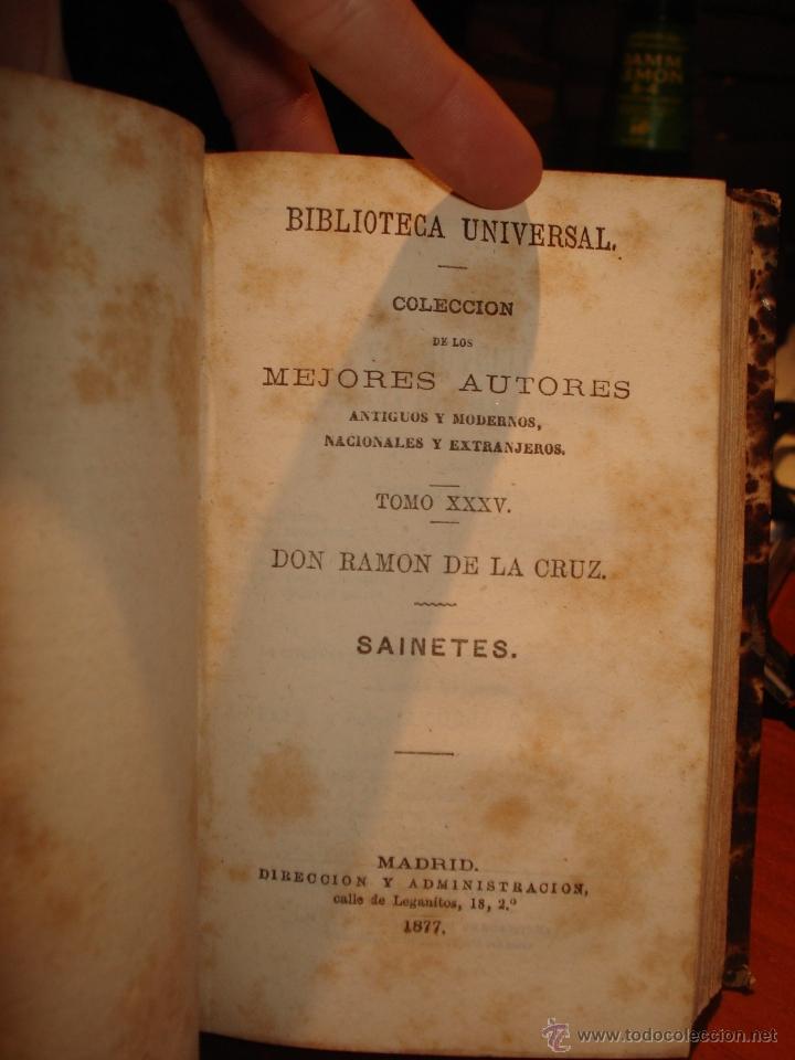 Libros antiguos: biblioteca universal 1881, Quevedo , Don Ramon de la Cruz , Fray Luis Leon - Foto 3 - 41354973