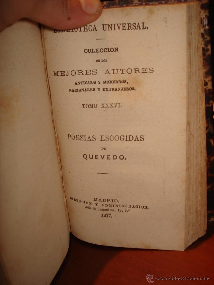Libros antiguos: biblioteca universal 1881, Quevedo , Don Ramon de la Cruz , Fray Luis Leon - Foto 4 - 41354973