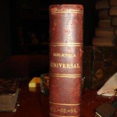 Libros antiguos: BIBLIOTECA UNIVERSAL 1881, SHAKESPEARE JULIA DE ASENSI , OSSIAN BARDO. Lote 41355131