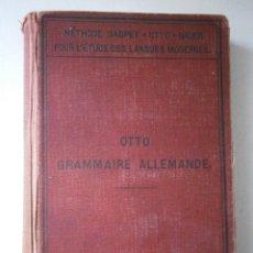 Libros antiguos: GRAMMAIRE ALLEMANDE METHODE GASPEY OTTO SAUER 1900 HEILDELBERG JULES. Lote 41371479