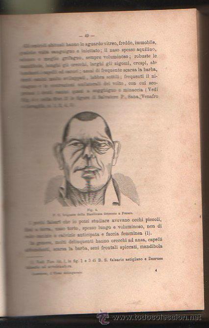 Libros antiguos: LUOMO DELINQUENTE POR EL PROF. CESARE LOMBROSO. FRATELLI BOCCA. ROMA TORINO FIRENZE 1878 - Foto 11 - 26532069