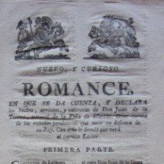 Libros antiguos: NUEVO Y CURIOSO ROMANCE.....DON JUAN DE LA TIERRA NATURAL DE LA VILLA DE ILLESCAS... SIGLO XVIII. Lote 41376428