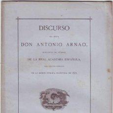 Libros antiguos: ARNAO, ANTONIO: ELOGIO DE D. JUAN NICASIO GALLEGO. 1876. Lote 41426362