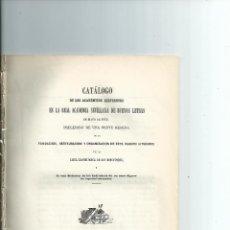 Libros antiguos: CATALOGO DE LOS ACADEMICOS ... REAL ACADEMIA SEVILLANA DE BUENAS LETRAS. 1859. Lote 41478620