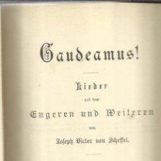 Libros antiguos: LIBRO EN ALEMÁN. GAUDEAMUS!. JOSEPH VICTOR VON SCHEFFEL. STUTTGART. 1890. Lote 58538784