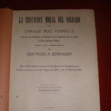 Libros antiguos: LIBRO MILITAR, 1924, TOLEDO, LA EDUCACION MORAL DEL SOLDADO, TOLEDO. Lote 41573617