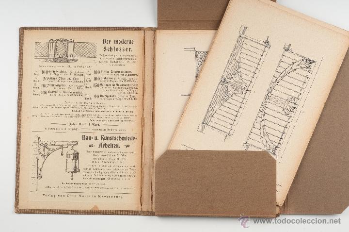 Libros antiguos: LIBRO DE CATALOGOS DE PIEZAS DE HIERRO, REJAS, PUERTAS....MODERNISTA SCHLOSSER - Foto 2 - 41607563
