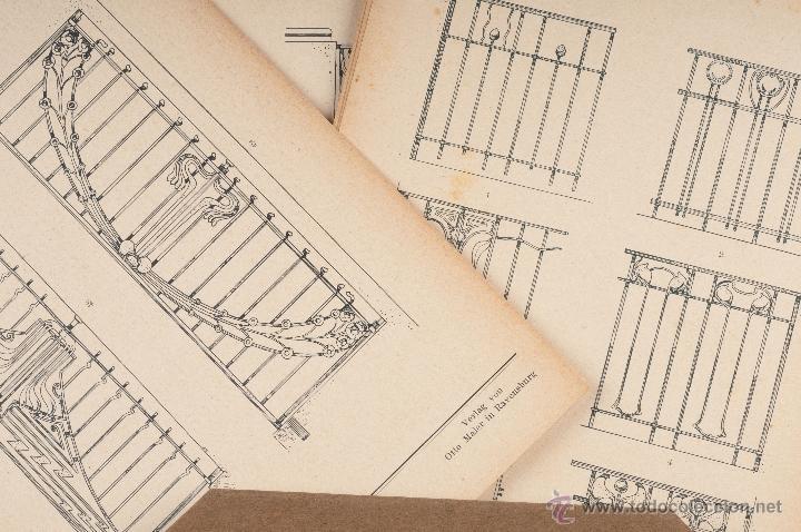 Libros antiguos: LIBRO DE CATALOGOS DE PIEZAS DE HIERRO, REJAS, PUERTAS....MODERNISTA SCHLOSSER - Foto 3 - 41607563