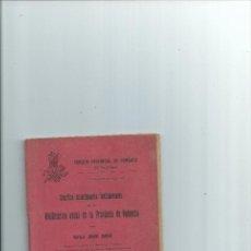 Libros antiguos: VINIFICACIÓN USUAL EN LA PROVINCIA DE VALENCIA RAFAEL JANINI JANINI 1914 VINO VINOS. Lote 41619529