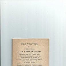 Libros antiguos: ESTATUTOS DE LA SOCIEDAD ANÓNIMA ALTOS HORNOS DE VIZCAYA. Lote 41638416
