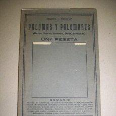 Libros antiguos - CONDE, Mario J. Palomas y palomares : (Patos, pavos, gansos, ocas, pintadas) - 41682376