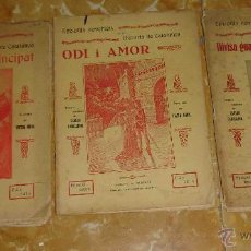 Libros antiguos: EPISODIS NOVEL·LATS DE LA HISTORIA DE CATALUNYA. CARLES CABALLERO. VICTOR MORA. ANY 1927. Lote 41728639
