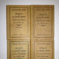 Libros antiguos: VALDEMAR VEDEL - IDEALES DE LA EDAD MEDIA 4 TOMOS - LABOR. Lote 41752055