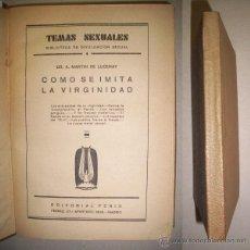 Libros antiguos: MARTÍN DE LUCENAY, A. CÓMO SE IMITA LA VIRGINIDAD. Lote 41876222