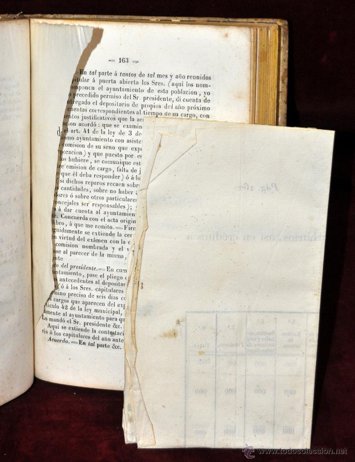Libros antiguos: LIBRO DE PRACTICA DE SECRETARIOS DE AYUNTAMIENTO. IMPRENTA Y LIBRERIA DE SANZ 1843 - Foto 8 - 42103297
