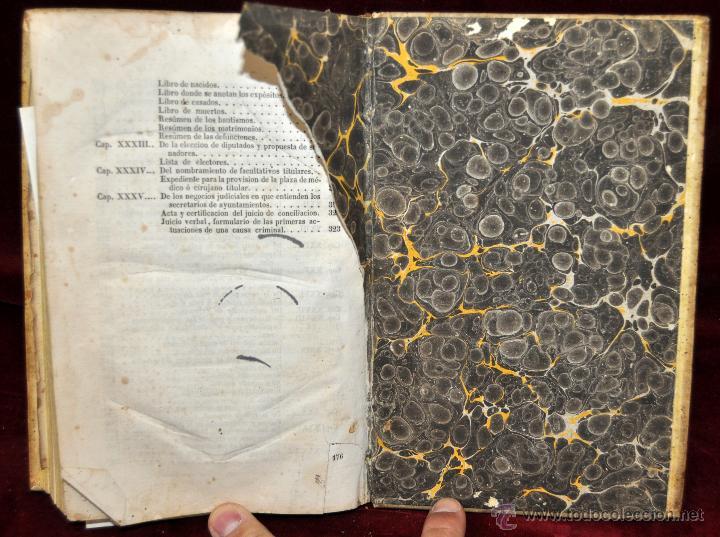 Libros antiguos: LIBRO DE PRACTICA DE SECRETARIOS DE AYUNTAMIENTO. IMPRENTA Y LIBRERIA DE SANZ 1843 - Foto 10 - 42103297
