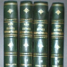 Libros antiguos: WEBER, G: HISTORIA CONTEMPORANEA (DE 1830 A 1872) 4 VOLS.. Lote 42129674