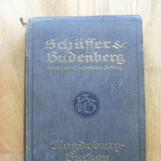 Libros antiguos: SCHAFFER & BUDENBERG, MAGDEBURG BUCKAU, CATALOGO. Lote 42150999