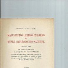 Libros antiguos: MANUSCRITOS LATINOS EN BARRO DEL MUSEO ARQUEOLOGICO NACIONAL. NUEVO. Lote 42162300