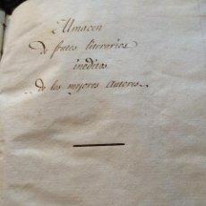 Libros antiguos: APUNTES SOBRE EL BIEN Y EL MAL DE ESPAÑA, ABATE GANDARA, MANUSCRITO. Lote 42184656