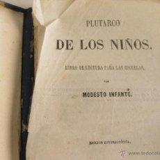 Libros antiguos: PLUTARCO DE LOS NIÑOS. LIBRO DE LECTURA PARA LAS ESCUELAS. 1861. LIBRERIA DE BADAJOZ. Lote 42301804
