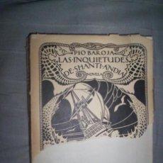 Libros antiguos: PIO BAROJA , LAS INQUIETUDES DE SHANTI ANDIA , GRABADOS 1920, ENCUADERNAR, ILUST. ZUBIARRE I. Lote 42302371