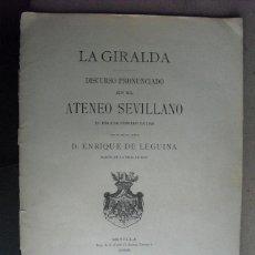 Libros antiguos: 1896 LA GIRALDA ENRIQUE DE LEGUINA. Lote 42362725