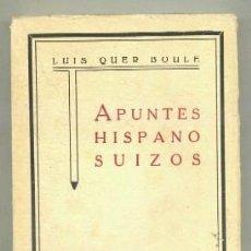 Libros antiguos: APUNTES HISPANO SUIZOS A-H-547. Lote 42392073