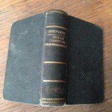 Libros antiguos: CRONICA FIORENTINA - DINO COMPAGNI - AÑO 1858. Lote 42438223