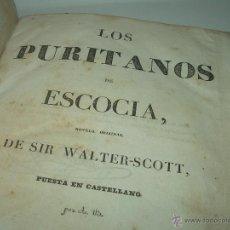 Libros antiguos: LIBRO TAPAS DE PIEL....LOS PURITANOS DE ESCOCIA...Y EL ENANO MISTERIOSO..WALTER SCOTT...AÑO..1.838. Lote 42442480