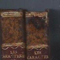 Libros antiguos: LES CARACTERES DE THÉOPHRASTE ET DE LA BRUYERE, 2TMS, AVIGNON 1817, 800 PÁGS APROX. Lote 42460871