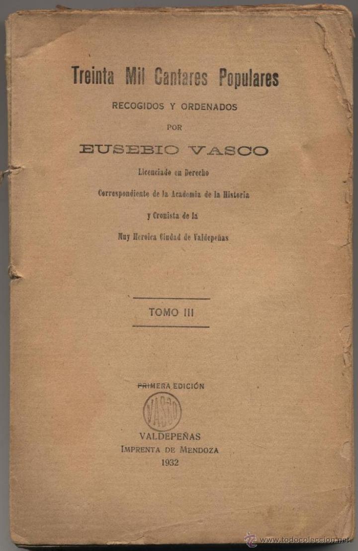 Resultado de imagen de Eusebio Vasco treinta mil cantares
