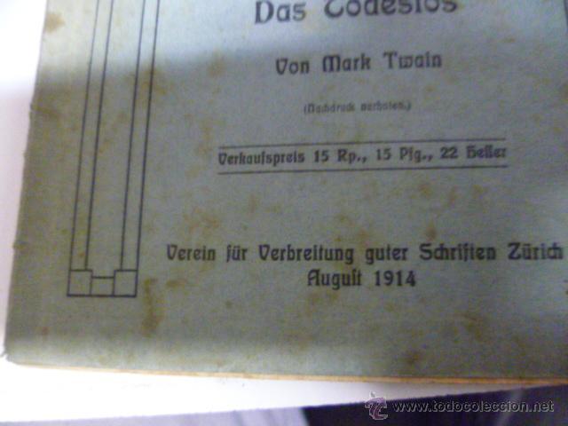 Libros antiguos: Die Verichwörung von Fort Crumbull - Das Codeslos - von Mark Twain - 1914 (en aleman) - Foto 2 - 42522747