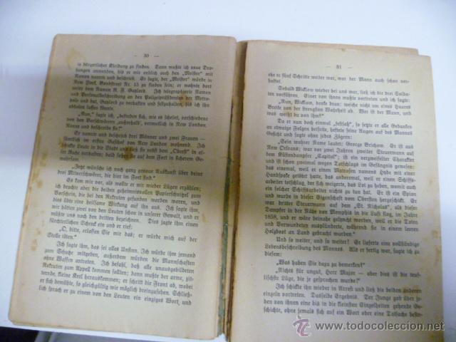 Libros antiguos: Die Verichwörung von Fort Crumbull - Das Codeslos - von Mark Twain - 1914 (en aleman) - Foto 5 - 42522747