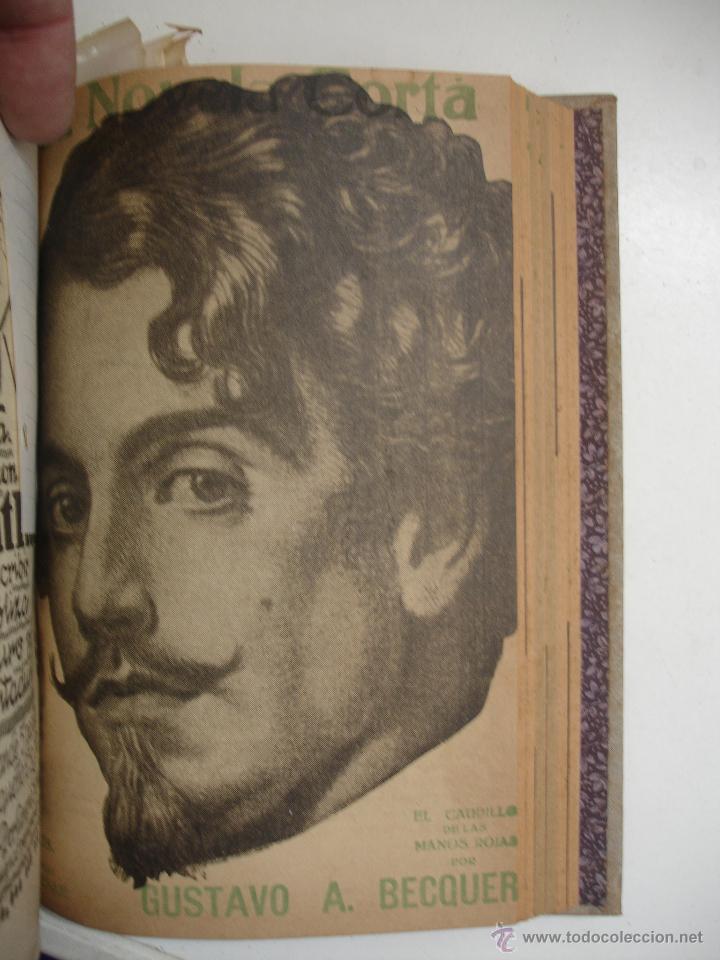 Libros antiguos: TOMO NÚMEROS DE LA COLECCIÓN LA NOVELA CORTA AÑO 1917 - SEGUNDO SEMESTRE JULIO A DICIEMBRE - Foto 8 - 42528474