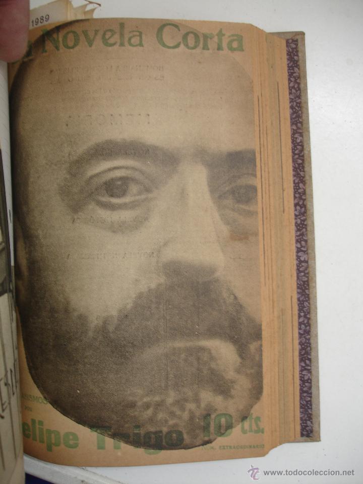 Libros antiguos: TOMO NÚMEROS DE LA COLECCIÓN LA NOVELA CORTA AÑO 1917 - SEGUNDO SEMESTRE JULIO A DICIEMBRE - Foto 10 - 42528474