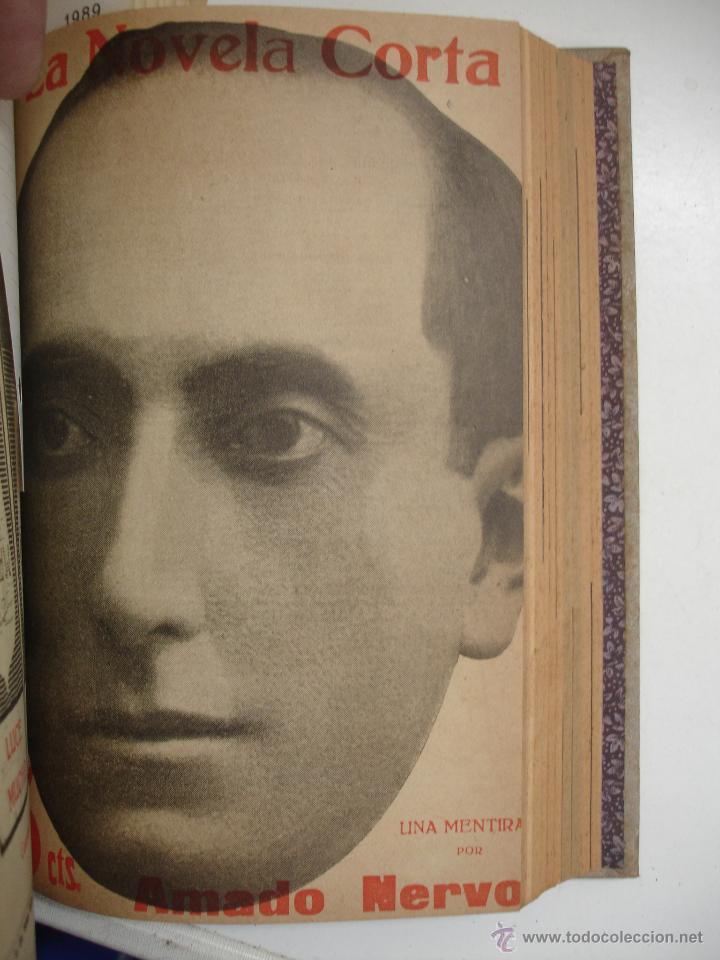 Libros antiguos: TOMO NÚMEROS DE LA COLECCIÓN LA NOVELA CORTA AÑO 1917 - SEGUNDO SEMESTRE JULIO A DICIEMBRE - Foto 12 - 42528474