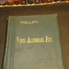 Libros antiguos: VINOS, ALCOHOLES, ACEITES, LICORES Y ABONOS.--BOFILL, ROSENDO E.. Lote 42543513