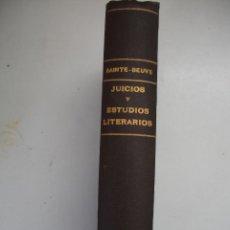 Libros antiguos: JUICIOS Y ESTUDIOS LITERARIOS. DE CAUSERIES DU LUNDI BY SAINTE-BEUVE SAINTE-BEUVE EDITORIAL: GARNIER. Lote 42557304