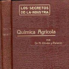 Libros antiguos: QUÍMICA AGRÍCOLA – AÑO 1914. Lote 42612323