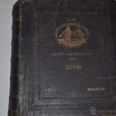 Libros antiguos: VOLUME I. STEAMERS AND MOTORSHIPS. LLOYD'S REGISTER OF SHIPPING RM65273. Lote 42633531
