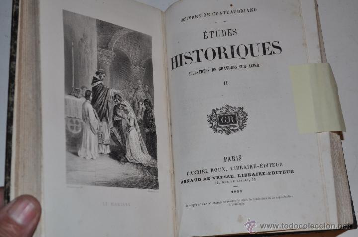 Libros antiguos: Éstudes Historiques. Tomo I y II. FRANÇOIS-RENÉ DE CHATEAUBRIAND RM65299 - Foto 3 - 42635630