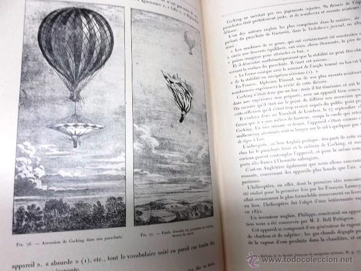 Libros antiguos: LA NAVIGATION AERIENNE por Lecornu ca. 1906, 363 grabados de globos aerostáticos, dirigibles, etc. - Foto 4 - 42651042
